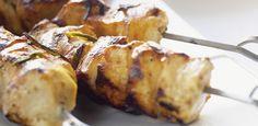 Espetadas de frango com marinada de citrinos