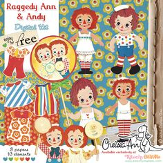 Free Raggedy Ann & Andy Digital Printables.
