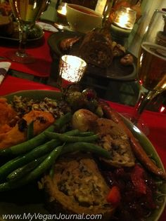 Another fantastic vegan thanksgiving option! Seitan Roast stuffed with Shitakes and Leeks! SO good! #Vegan #Thanksgiving #Recipe #MyVeganJournal