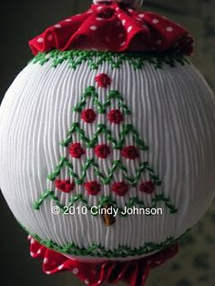 how to finish smocked ornaments