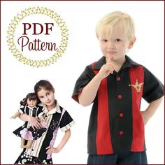 9th pattern I selected for my giveaway win!!!  Bowling Shirt, Boutique Pattern PDF E-Book, by the Scientific Seamstress
