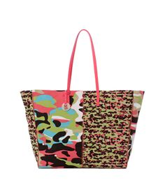 #MMissoni | #Multicolor Camouflage Tote bag |  Summer 2014 Collection