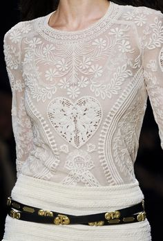 Isabel Marant Fall 2012 sweater, fashion, lace tops, heart, marant fall, style, blous, isabel marant, white lace