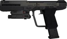 A USP .45 built to look like the M6D from Halo. Yes, this IS a good idea for X-mas. I'll kiss you.