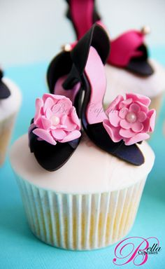 bridal shower cupcakes #shoes