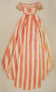 Evening dress, ca 1865 UK, the Met Museum