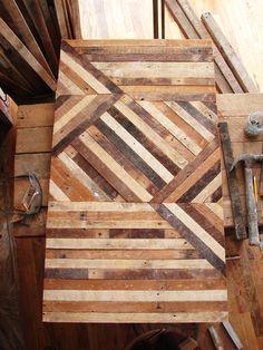 Beautiful reclaimed wood table top by Ariele Alasko.  http://brooklyntowest.blogspot.co.uk/