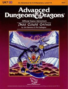 UK7 Dark Clouds Gather (1e) | Book cover and interior art for Advanced Dungeons and Dragons 1.0 - Advanced Dungeons & Dragons, D&D, DND, AD&D, ADND, 1st Edition, 1st Ed., 1.0, 1E, OSRIC, OSR, Roleplaying Game, Role Playing Game, RPG, Wizards of the Coast, WotC, TSR Inc. | Create your own roleplaying game books w/ RPG Bard: www.rpgbard.com