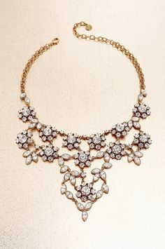 Floral statement necklace #Accessories #BostonProper