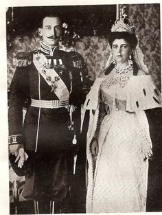 Prince Nicholas of Greece & Denmark and Grand Duchess Elena of Russia - 1902