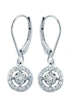 Majesty Diamonds 0.35 ct Diamond Dangle Earrings In 14k White Gold