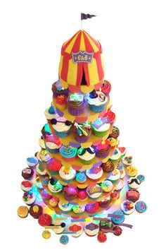 Festive Circus Cupcakes