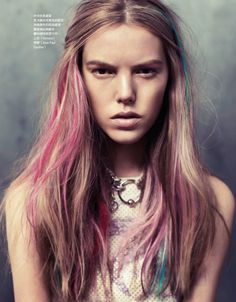 dip dye pink blue hair