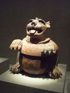 Lidded jaguar vessel Mexico Early Classic Maya 300 - 500 CE Earthenware