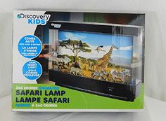 Safari Animated Lamp with Light & Motion (11.5 X 9 Inches) 360 Degree View Discovery Kids  Works as a lamp and a night light. and view-able on all sides