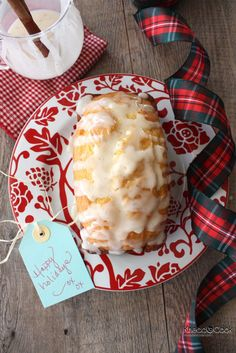 Eggnog Bread with Rum Glaze ... Looking forward to trying this recipe!