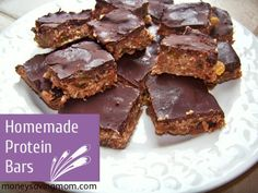 homemade protein bars, foods, protein bar recipes, proteinbar, homemad protein, healthy recipes, snack, home made, bar food