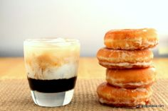 Donuts with Coffee & Cream Cocktail from the Drunken  Goddess #hgeats