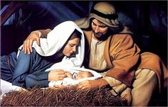 Jesus was born of a virgin and laid in a manger.