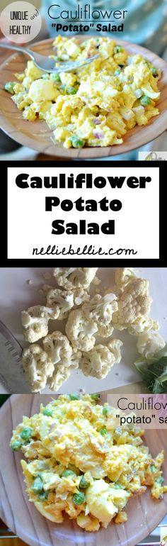 gluten free meat recipes, potatoes salad, cauliflow potato, cauliflower salad recipe, healthy potato recipes, potato salads, healthy potatoes recipes, cauliflower potato salad, healthy cauliflower salad