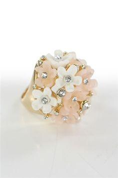 $15 Pink and White Bouquet Ring