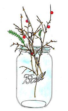 ..Twigg studios: christmas mason jar clip art