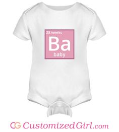 custom Element Baby onesie from Customized Girl