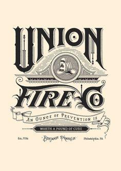 Typeverything.com  Hook & Irons Co. Branding, custom lettering & Illustration by Ginger Monkey.