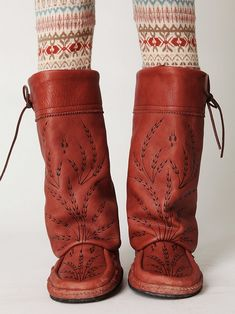 red boots too