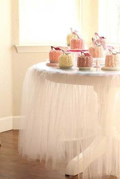 Baby Shower- Tulle table skirt         Living Beautifully: Just A Few Thoughts Today