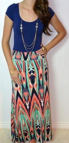 Bohemian Instinct Maxi Skirt