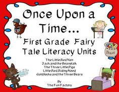 First Grade Fairy Tale Bundle Each story includes: •	Read Aloud/Vocabulary Cards •	Whole Group Retelling Cards •	Whole Group Discussion Questions •	Small Group Emergent Reader •	Writing $ fairi tale, grade fairi