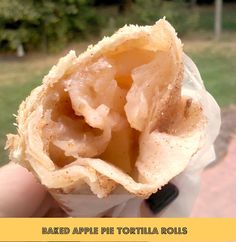 Baked Apple Pie Tortilla Rolls - So easy to make! A favorite go-to dessert! You can use apple pie filling from scratch or canned! Enjoy hot or cold! Great served warm with vanilla ice cream or cold, wrapped in wax paper in your hand - so good!