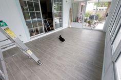 Ceramic tile that looks like wood flooring!