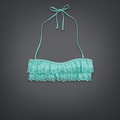 Womens Ruffle Bandeau Swim Top | #GillyHicksGirl | GillyHicks.com