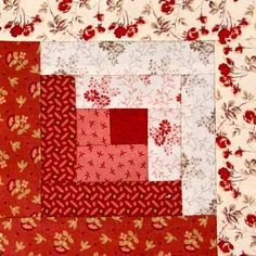 "Easy Log Cabin Tutorial by <a href=""http://quiltingstories.blogspot.com/2014/08/easy-log-cabin-tutorial-block-red-pink-beige.html"" rel=""nofollow"" target=""_blank"">quiltingstories.b...</a>"