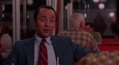 """In Mad Men Season 7 Episode 6 (""""The Strategy"""") Pete, Peggy, and Don are at Burger Chef, where Peggy wants to shoot a commercial spot. """"It's not a home,"""" Pete says. Peggy replies, """"It's better. It's a clean, well-lighted place."""" Pete replies, """"Okay, Hemingway."""" http://www.nypl.org/blog/2012/02/27/mad-men-reading-list"""
