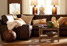 Pile on the pumpkin pillows. #potterybarn