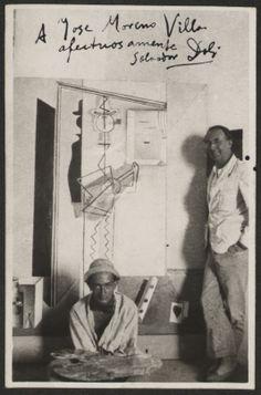 Postal dedicada a José Moreno Villa por Salvador Dalí. Fondo Gómez Moreno/Orueta. Serie Fotografías personales y Residencia de Estudiantes.  http://aleph.csic.es/F?func=find-c&ccl_term=SYS%3D000125538&local_base=ARCHIVOS