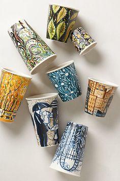 Ceramic Sketch Cups #anthrofave