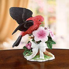 The Lenox 2012 Scarlet Tanager Bird Sculpture
