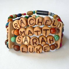 Mother's Day Mothers Bracelet Personalized Name by stargazinglily, $36.00