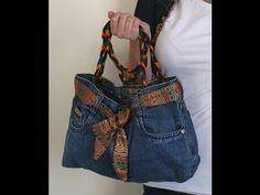 DIY Fashion Jeans BAG ( recycled denim)