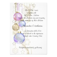 Christmas,Holiday Gay / Lesbian Wedding Invitation