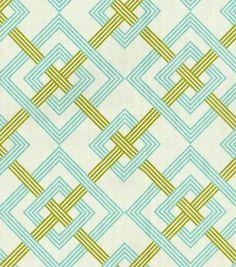 Home Decor Print Fabric- Waverly Square Root/Turquoise: home decor print fabric: home decor fabric: fabric: Shop | Joann.com
