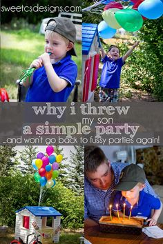 why i threw my son a simple party and won't go back to fussy parties again by sweetcsdesignscom- great tips for making birthdays truly fun for kids and family and not overstimulating little kids or those with senso