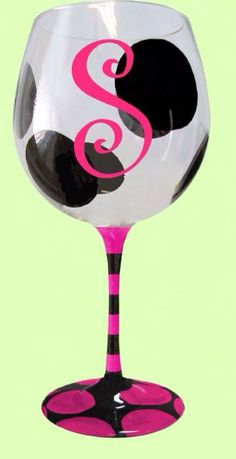 This is so cute! We can buy cheap wine glasses at the Dollar Store, and paint them. Then drink out of them lol