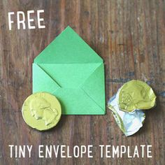 Free tiny envelope template.  Tooth Fairy notes, fairy notes.  Little letters.