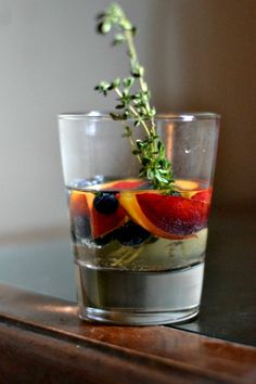 Blueberry Nectarine Sangria with Thyme