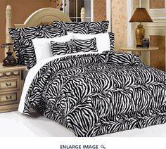 7Pcs King Zebra Animal Kingdom Bedding Comforter Set